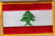 Lebanon Embroidered Flag Patch, style 08.